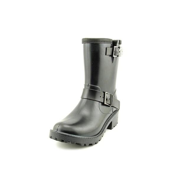 Michael Michael Kors Devenport Rain Bootie Women Synthetic Black Rain Boot
