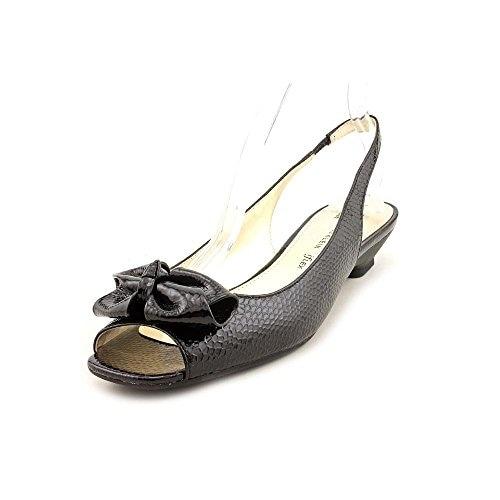 AK Anne Klein Women's Jest Patent Slingback Sandal