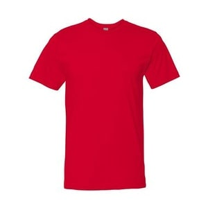 Adult Fine Jersey Tee - Red - XL