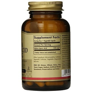 Solgar Alpha Lipoic Acid 120 mg (60 Veggie Capsules)