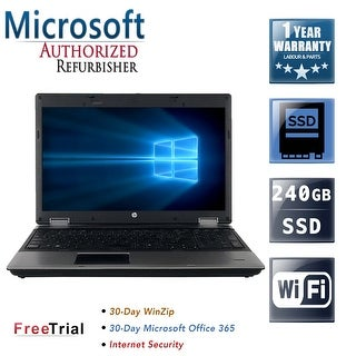 "Refurbished HP ProBook 6560B 15.6"" Intel Core i5-2410M 2.30GHz 8GB DDR3 1 TB DVD Windows 10 Pro 64 Bits 1 Year Warranty"