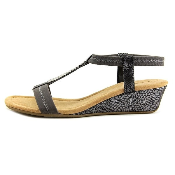 Alfani Womens Vacay Open Toe Casual Platform Sandals, Moss Snake, Size 5.0