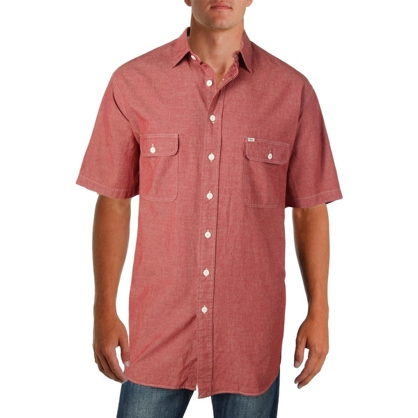 1e2cf617 Shop Polo Ralph Lauren Mens Big & Tall Button-Down Shirt Point Collar Short  Sleeves - xlt - Free Shipping On Orders Over $45 - Overstock - 23140670