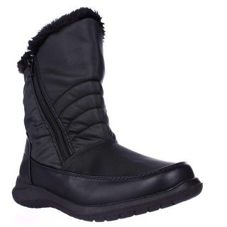 Weatherproof Alex Mid-Calf Faux Fur Lined Winter Boots, Black
