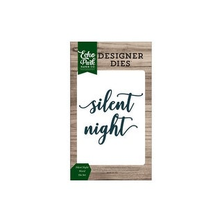 Echo Park Christmas Cheer Die Set Word SilentNight