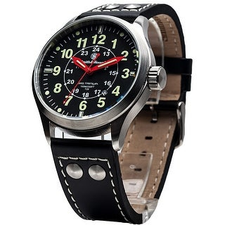 Smith & Wesson Mumbai Lamplighter Watch 42mm 10ATM SWISS TRITIUM - Black
