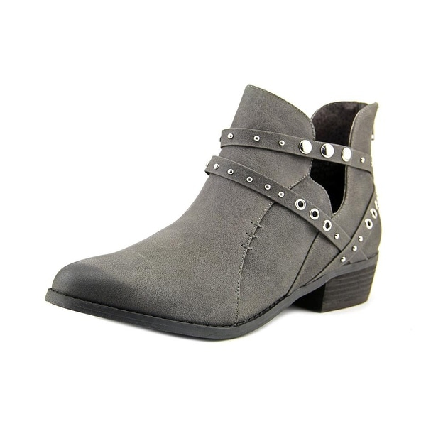 Not Rated Takayama Women Round Toe Synthetic Gray Bootie