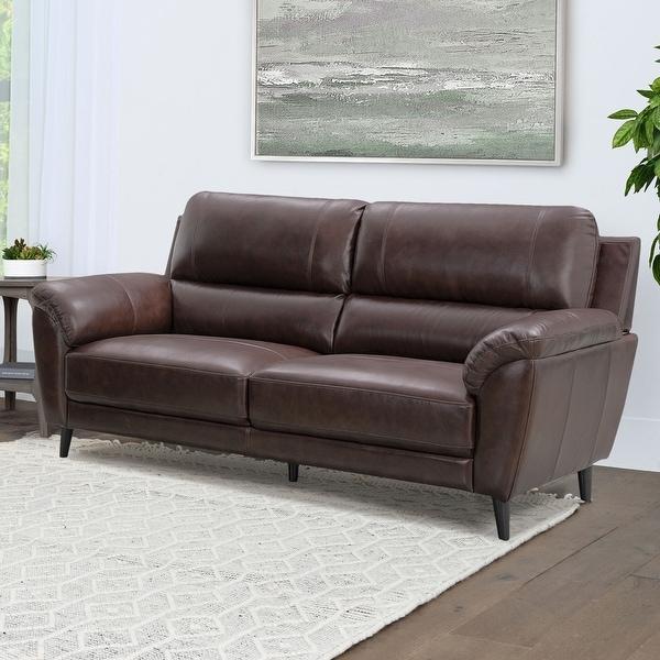 Strick & Bolton Granville Top-grain Leather Sofa. Opens flyout.