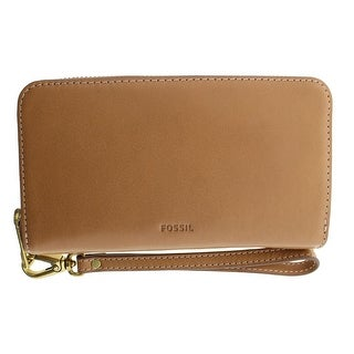 Fossil Womens Emma Leather Zip Around Wristlet Wallet - o/s