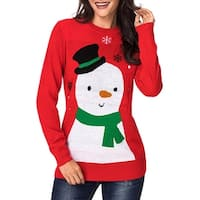 QZUnique Women's Winter Funny Ugly Christmas Sweater Knitted Pullover