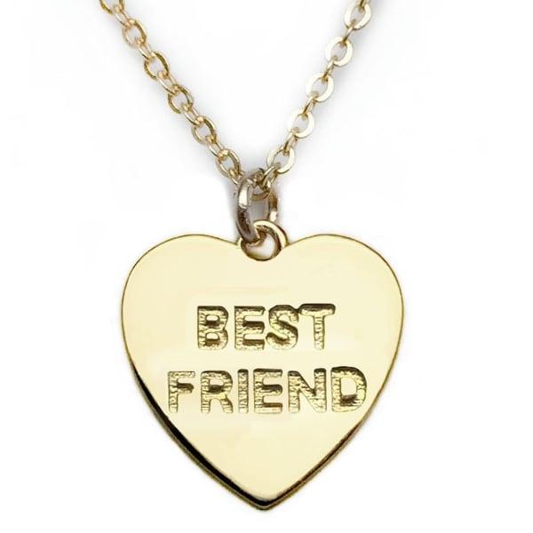 """Julieta Jewelry Best Friend Heart Gold Charm 16"""" Necklace"""
