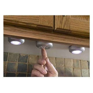 Techno Earth 3 Pack Of Touch Push Led Lights For Cabinets Closets Counters
