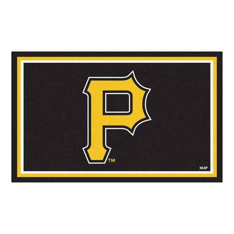 MLB - Pittsburgh Pirates 4ft. x 6ft. Plush Area Rug - 4' x 6'/Surplus - 4' x 6'/Surplus