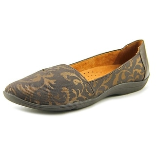 Hush Puppies Bridie Avila Women Round Toe Canvas Brown Loafer