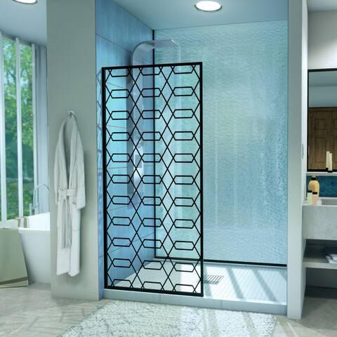 """DreamLine Linea Maze 34 in. W x 72 in. H Single Panel Shower Door, Open Entry Design - 34"""" W"""