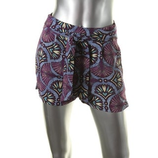 Zara Trafaluc Womens Printed Faux Belt Casual Shorts
