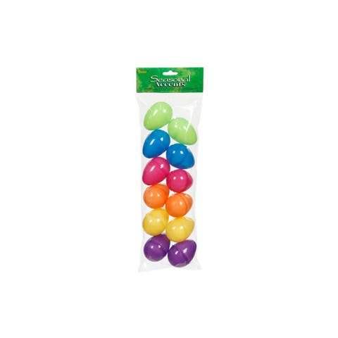 "Darice Plastic Easter Egg 2.25"" Openable 12pc"