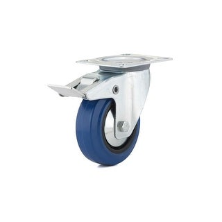 Richelieu F08336 155 lb. Maximum Weight Capacity Commercial Grade Swivel Mount Caster with Brake - Blue