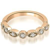 0.25 cttw. 14K Rose Gold Round Diamond Bezel Wedding Band
