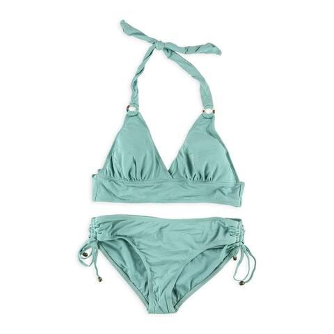 Anne Cole Womens Ringed Side Tie 2 Piece Bikini