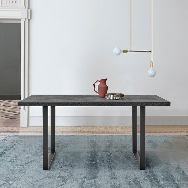 Fenton Dining Table with Charcoal Top & Metal Base. Opens flyout.