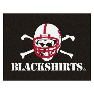 NCAA University Of Nebraska Blackshirts Cornhuskers All Star Non Skid Mat Rectangular Area Rug N A