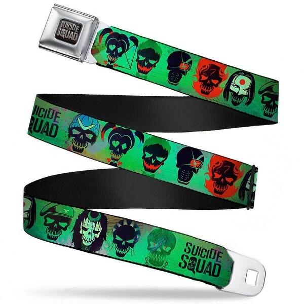 Suicide Squad Logo Full Color Black Red Grays Suicide Squad 10 Stylized Seatbelt Belt
