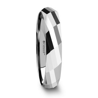 THORSTEN - ETERNITY Multi Faceted Tungsten Carbide Band - 4mm