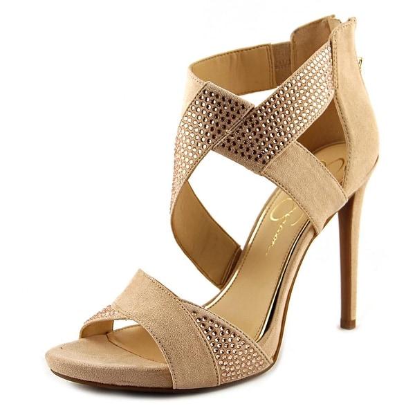 Jessica Simpson Raycine Women Open Toe Synthetic Nude Sandals