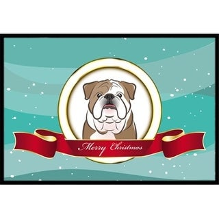 Carolines Treasures BB1529JMAT English Bulldog Merry Christmas Indoor & Outdoor Mat 24 x 36 in.