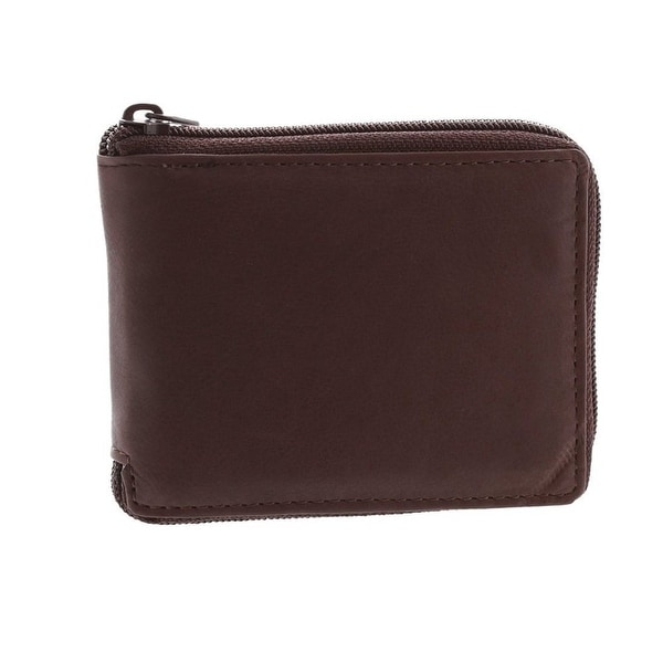 Paul & Taylor Leather Zip Around Center Flap Bifold Wallet