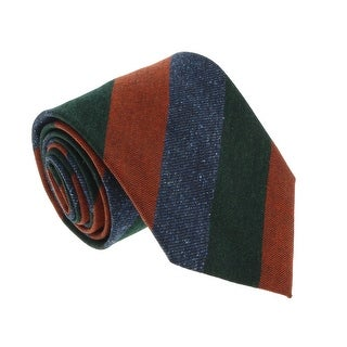 Missoni U5120 Green/Orange Awning 100% Silk Tie - 60-3