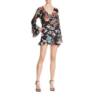 Bardot Womens Amelia Romper Lace Up Floral