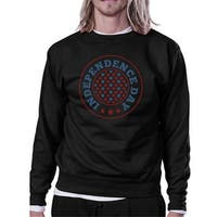 Independence Day Unisex Graphic Sweatshirt Black Crewneck Pullover