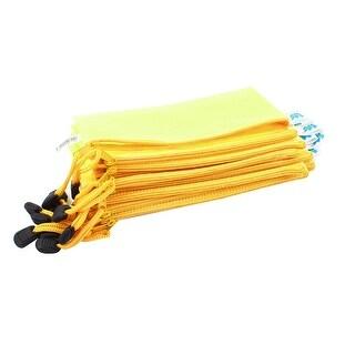 12 PCS 19 x 11cm Plastic Zipped Envelope Folder Storage File Bag Pouch Case