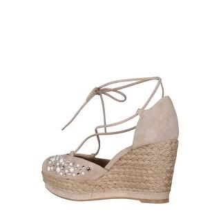Stuart Weitzman Womens mallorca Fabric Closed Toe Special Occasion Platform S...