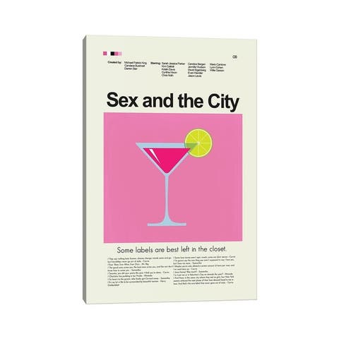 """iCanvas """"Sex And The City"""" by Prints and Giggles by Erin Hagerman Canvas Print"""