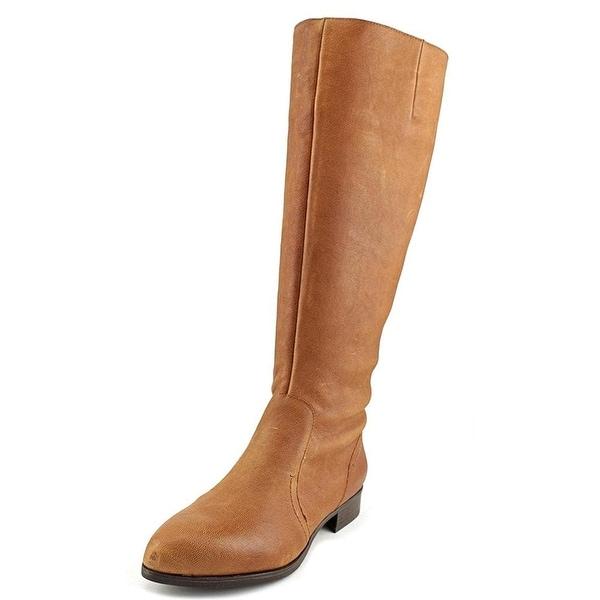 Nine West Nicolah Women Pointed Toe Leather Brown Knee High Boot