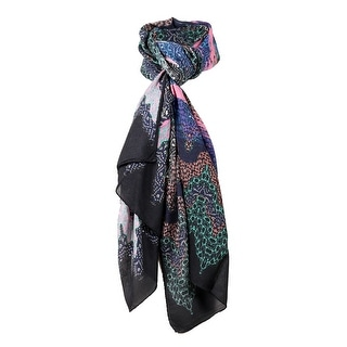 Link to Missoni Black/Purple Long Zigzag Oversized Signature Scarf - 28-79 Similar Items in Scarves & Wraps