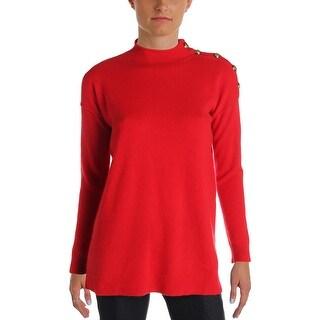 Lauren Ralph Lauren Womens Pullover Sweater Cashmere Mock Neck