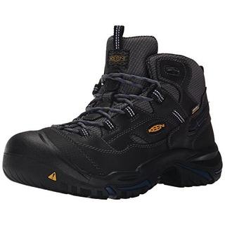 Keen Mens Braddock Leather Soft Toe Work Boots - 7 extra wide (e+, ww)