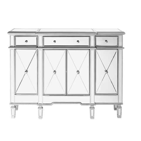 Contemporary 3-drawer 4-door Mirrored Cabinet