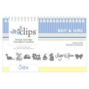Boy & Girl Sizzix Eclips Machine 50+ Design Cartridge