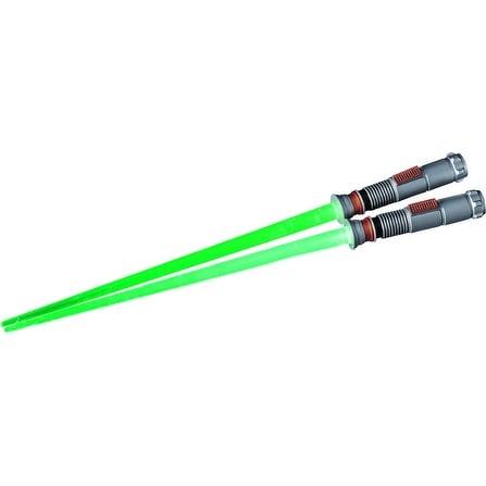 Star Wars Luke Skywalker Light Up Green Lightsaber Chopsticks - Multi