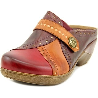 Elite by Corkys Pop Tart Round Toe Leather Clogs