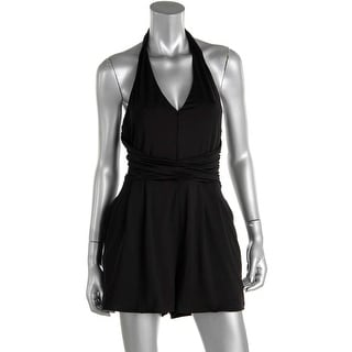 Guess Womens Ruched V-Neck Romper - M