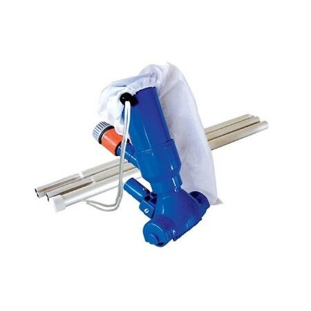 "9.5"" Blue Vacuum Head Kit with Filter Bag and Aluminium Pole"
