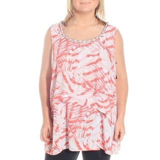 Womens Coral printed Top Size 4