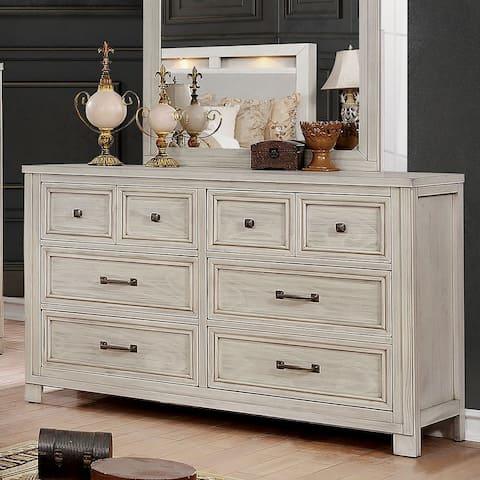Furniture of America Nuch Transitional Antique White 6-drawer Dresser