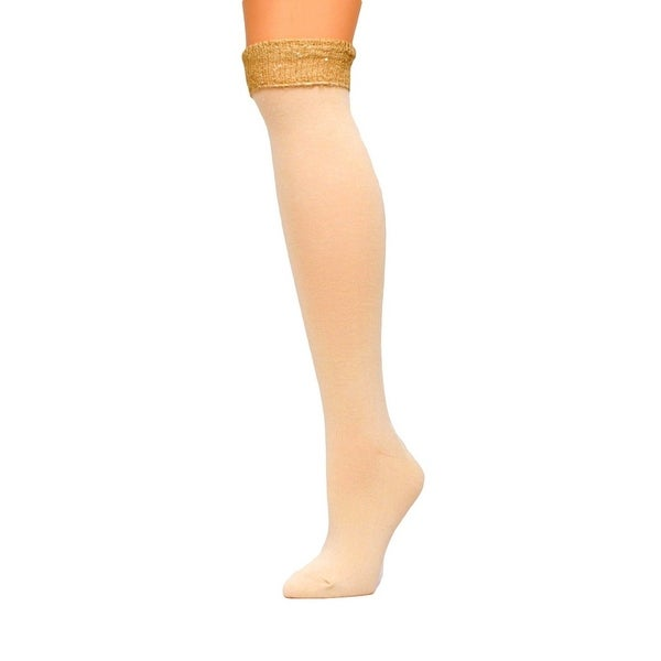 Blazin Roxx Western Socks Womens Knee High Sequins Cream 0